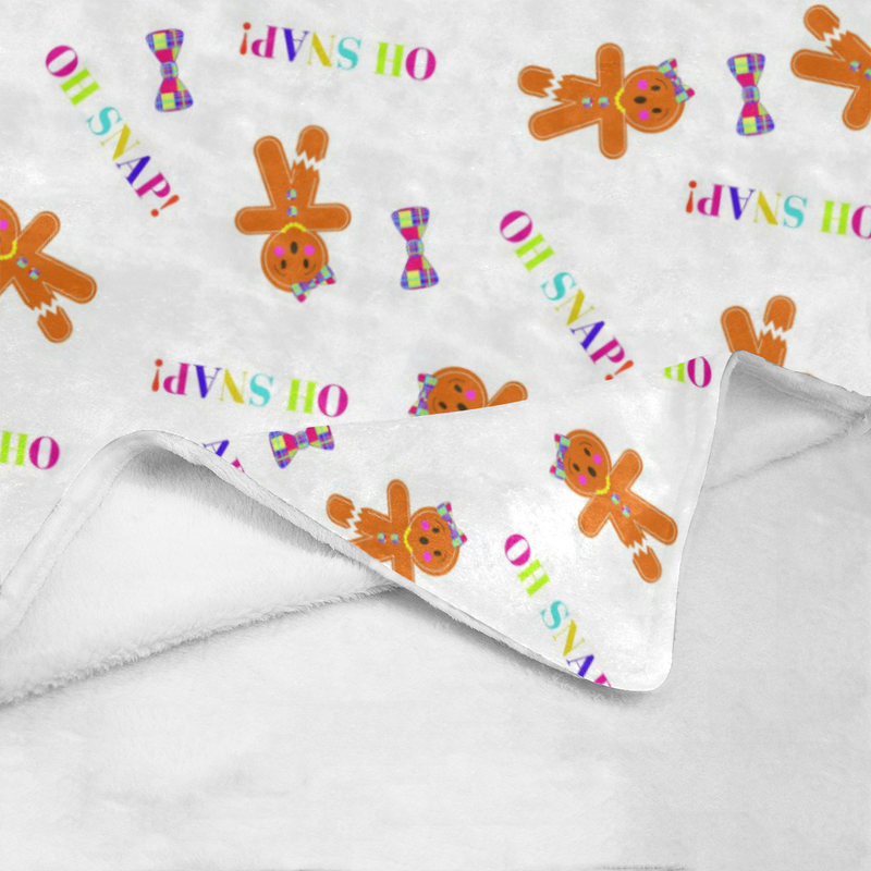 OH SNAP, MISS GINGER ULTRA SOFT FLEECE BLANKET