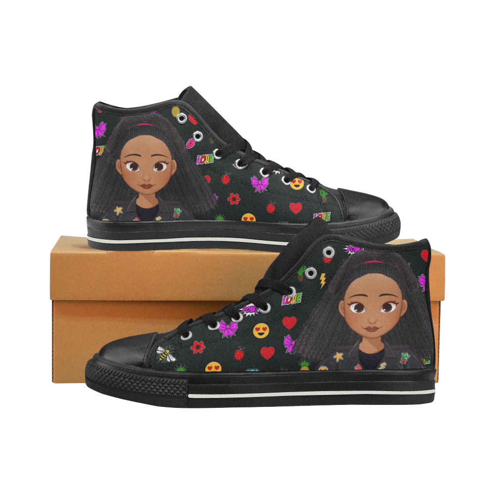MISS APRIL HIGH TOP CANVAS SNEAKERS FOR KIDS
