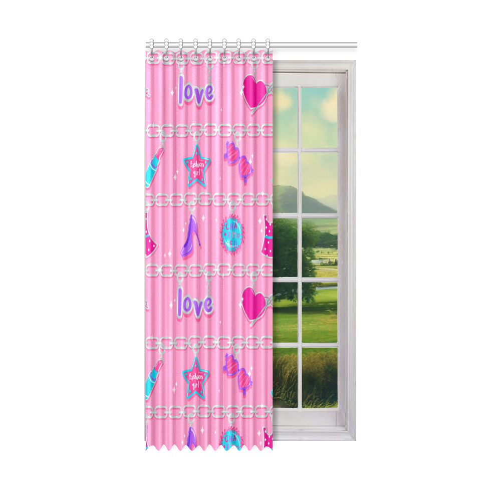 "CHARMED ONE PIECE WINDOW CURTAIN 50"" x 96"""