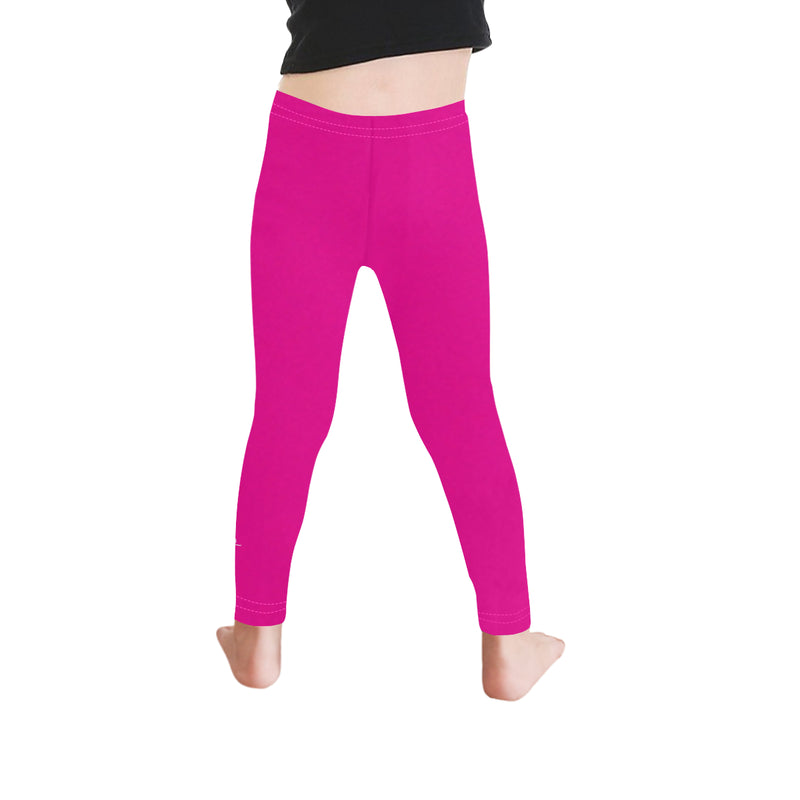 HEART AND NEEDLE KIDS LEGGINGS- PINK