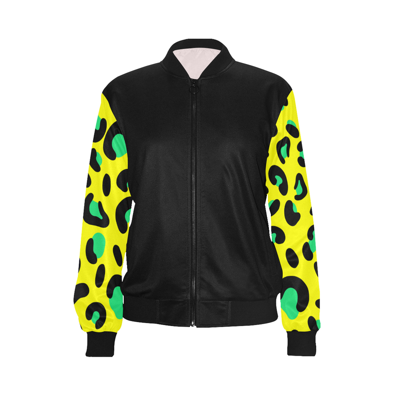 FASHION GIRL YELLOW LIGHTWEIGHT BOMBER JACKET