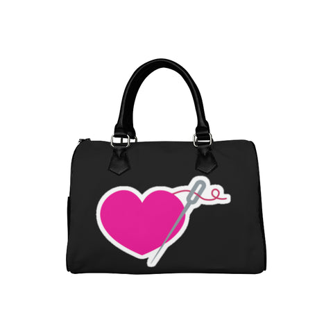 HEART AND NEEDLE SPEEDY HANDBAG - BLACK