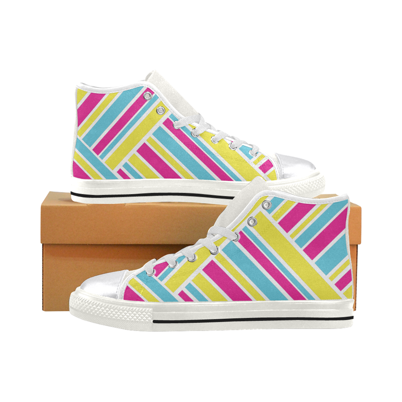 HIGH TOP CANVAS SNEAKERS