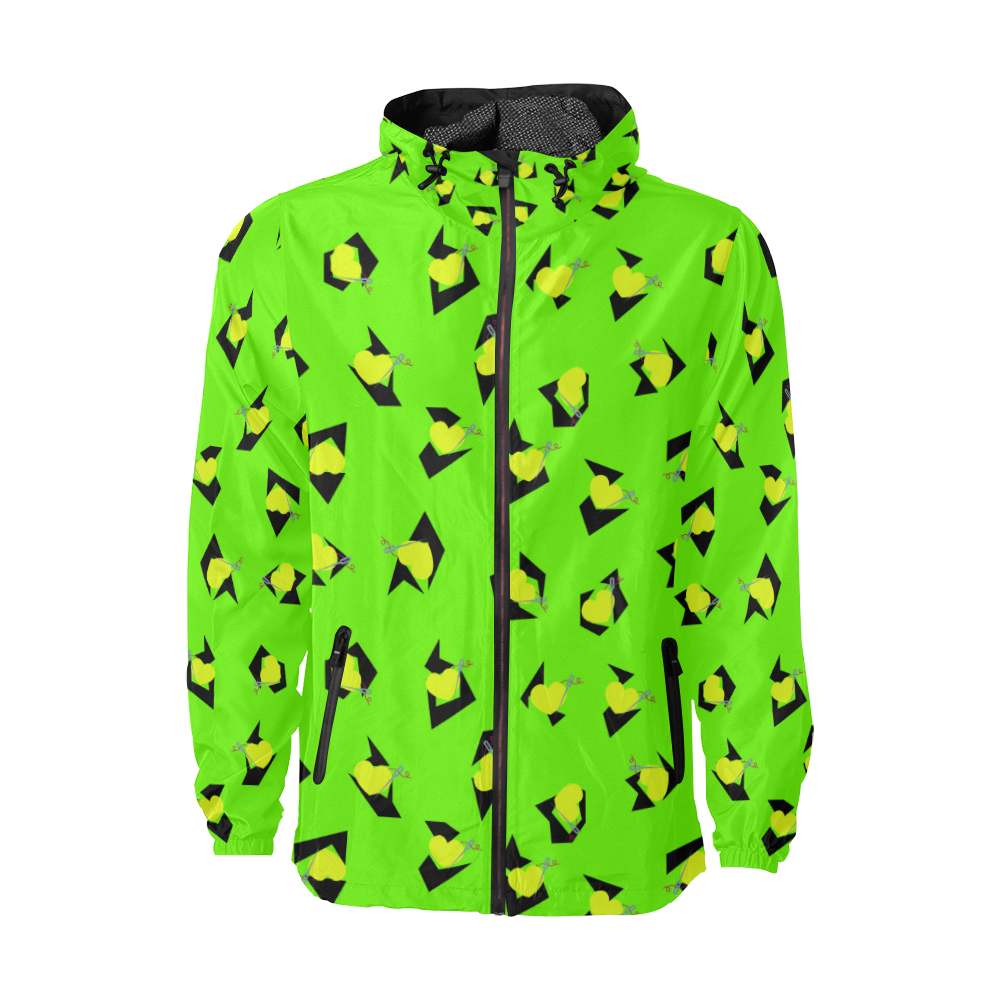TOTALLY 80'S GREEN FASHION WINDBREAKER