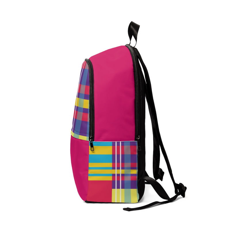 MERRY PLAID Backpack (pink)