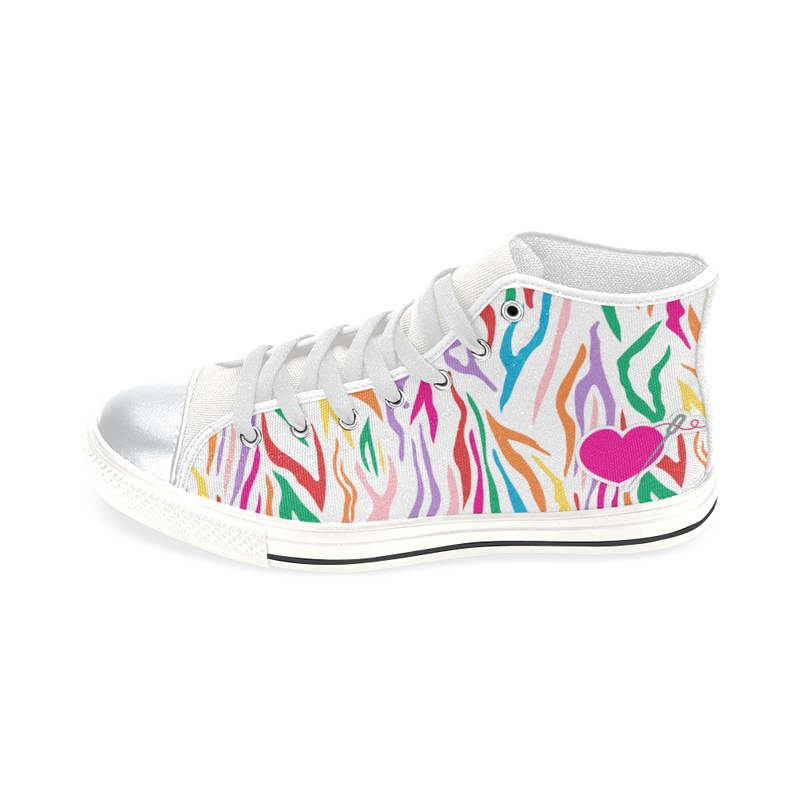MISSY HIGH TOP CANVAS GIRLS' SNEAKERS
