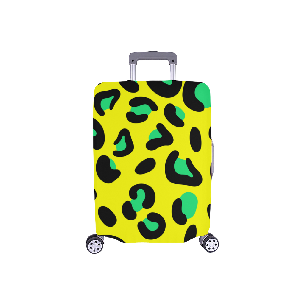 FASHION GIRL GRAFFITI YELLOW LUGGAGE COVER - SMALL