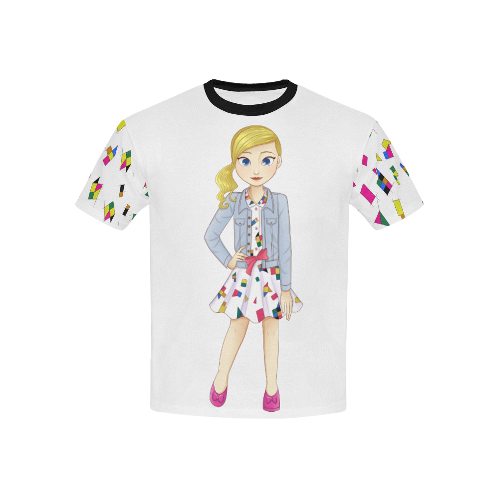 MISS BIANCA GEOMETRY DESIGNER KIDS' TEE
