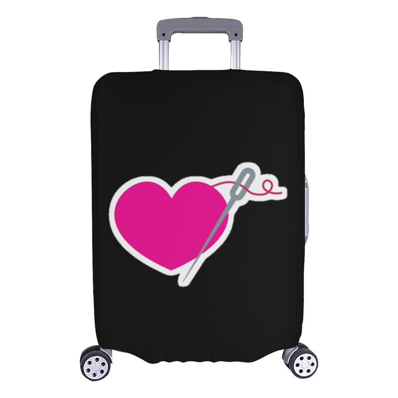 HEART AND NEEDLE EMBLEM LUGGAGE COVER - LARGE