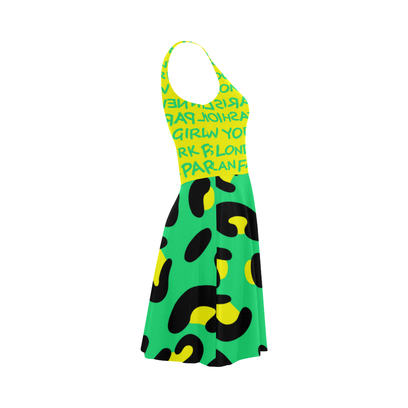 FASHION GIRL YELLOW GRAFFITI FASHION SUNDRESS