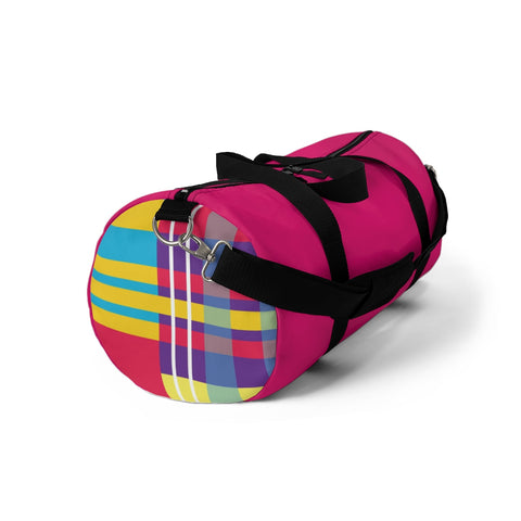 MERRY PLAID Duffel Bag (pink)