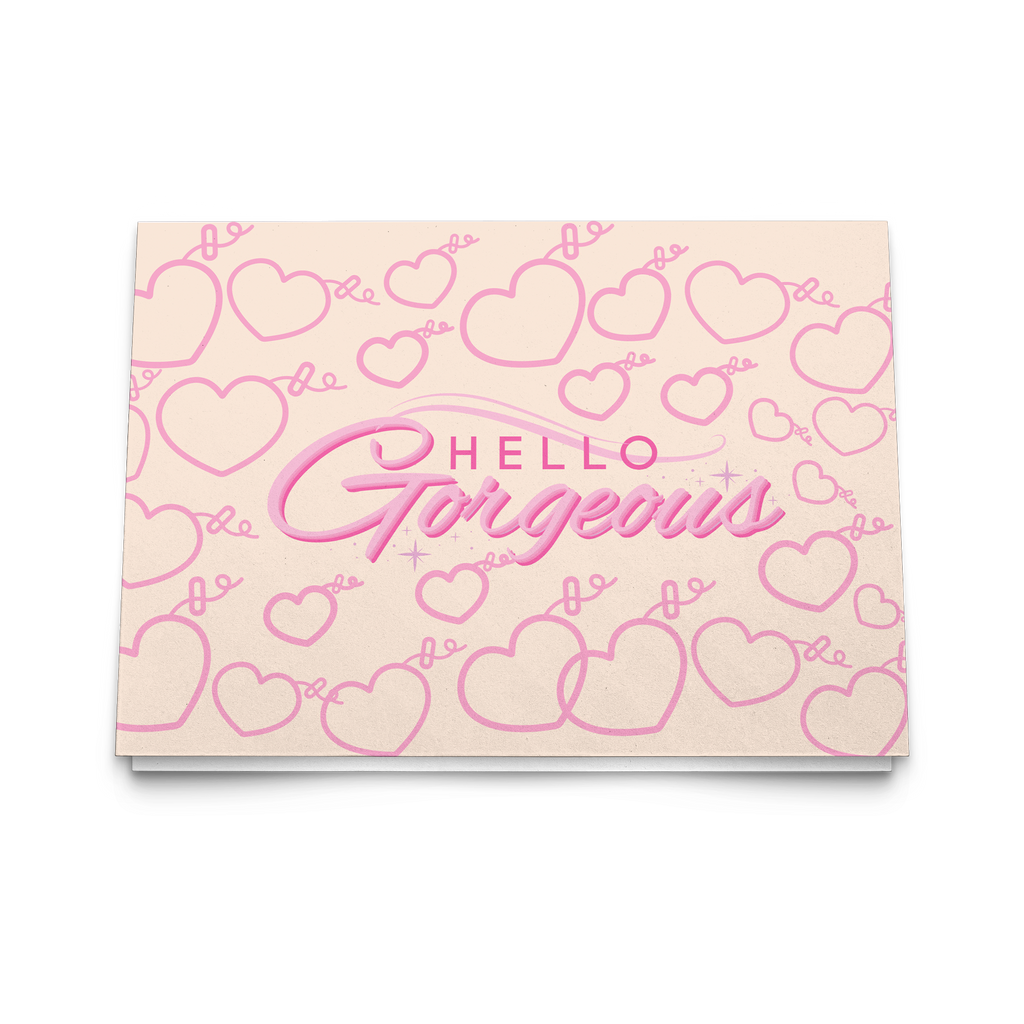HELLO GORGEOUS (PINK) NOTE CARDS