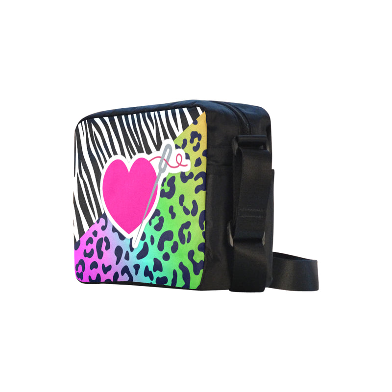 MIXIE RAINBOW LEOPARD SMALL MESSENGER BAG