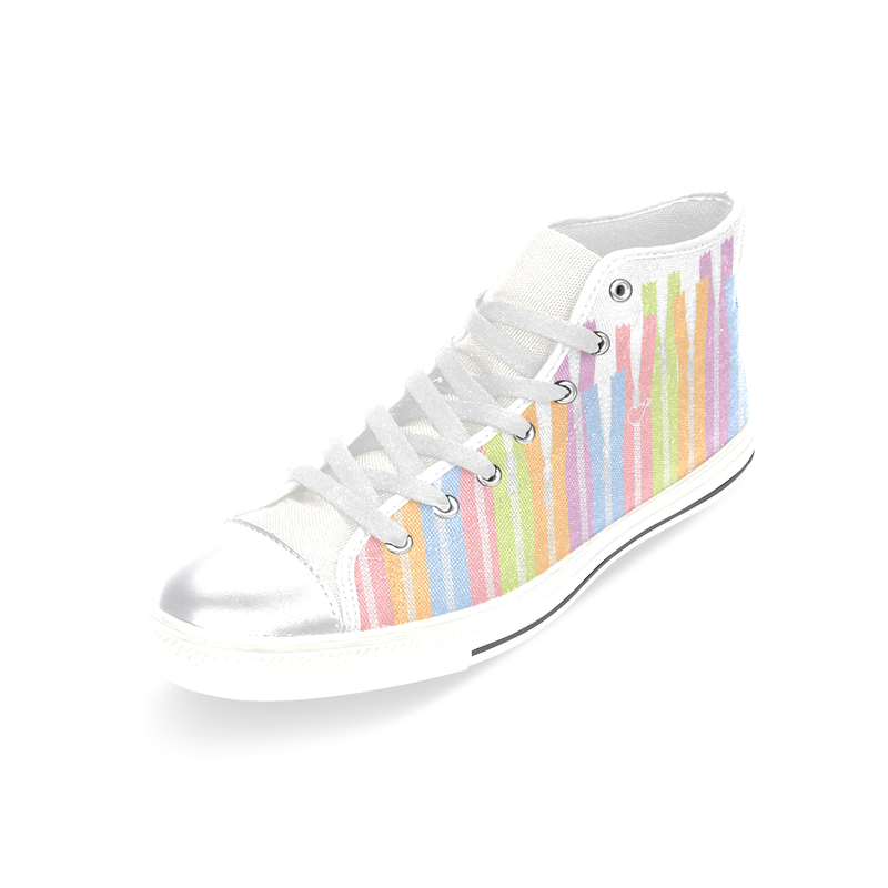 GIRLY ZIPPER HIGH-TOP GIRLS' SNEAKERS (sz 6-12)