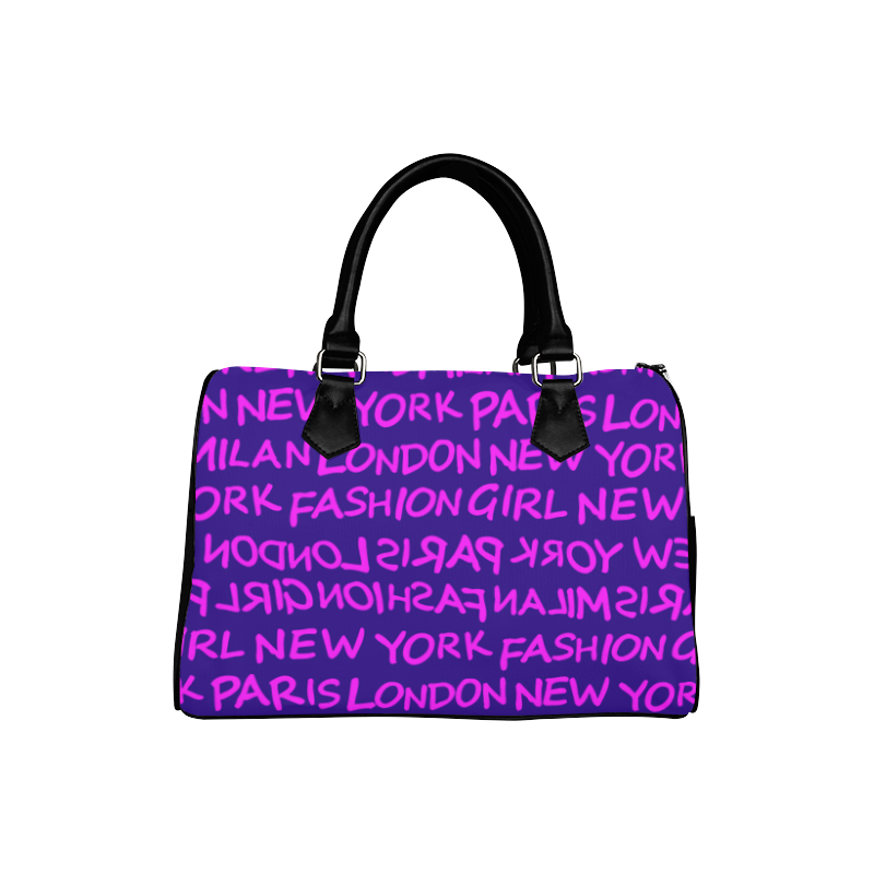 FASHION GIRL MIXIE SPEEDY HANDBAG - PURPLE