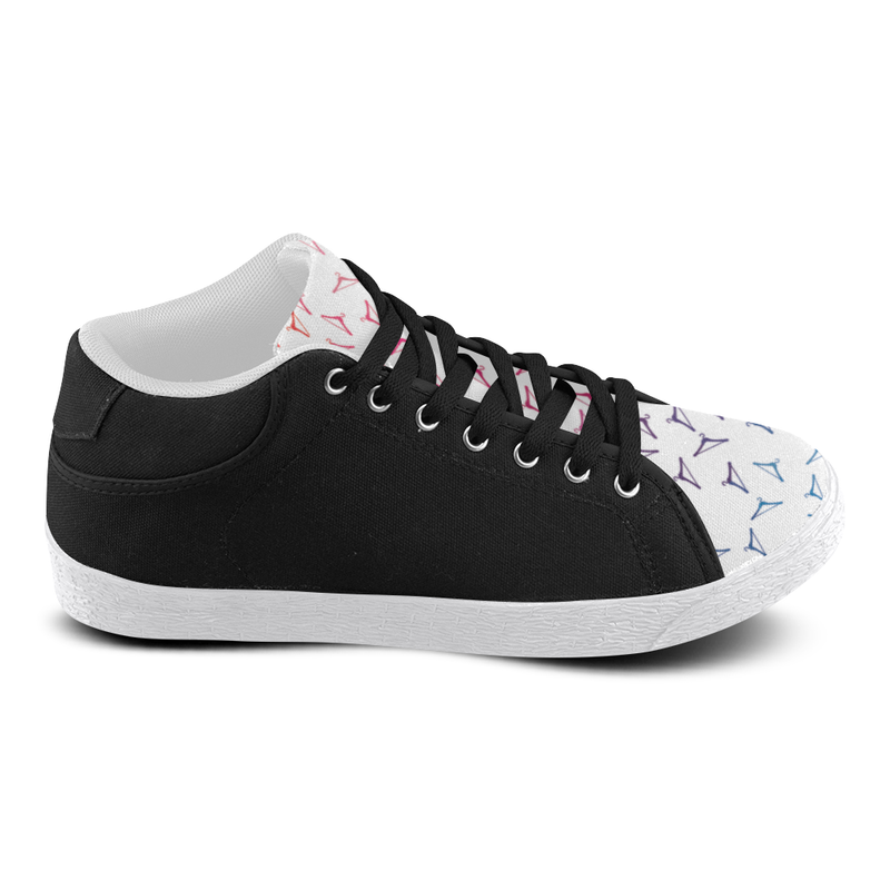 RAINBOW HANGER MID TOP CANVAS GIRLS' SNEAKERS (sz 5-11)