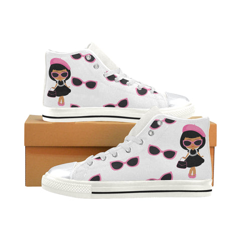 BOUGIE GIRLS  & SHADES HIGH TOP CANVAS SNEAKERS FOR KIDS