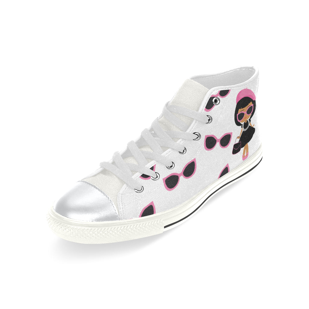 BOUGIE GIRLS  & SHADES HIGH TOP CANVAS GIRLS' SNEAKERS