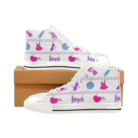 CHARMED HIGH TOP CANVAS SNEAKERS FOR KIDS