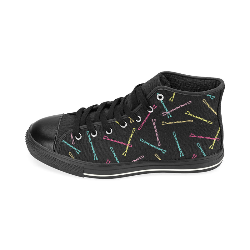I GOT 99 BOBBY PINS...HIGH TOP CANVAS GIRLS' SNEAKERS