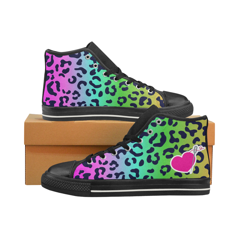 LISA HIGH TOP CANVAS GIRLS' SNEAKERS