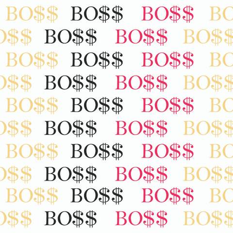 BO$$ WRAPPING PAPER
