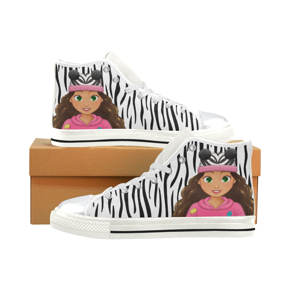 MISS CAMILA HIGH TOP CANVAS GIRLS' SNEAKERS