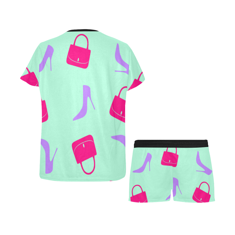 SHOES AND BAGS PAJAMA SHORT SET