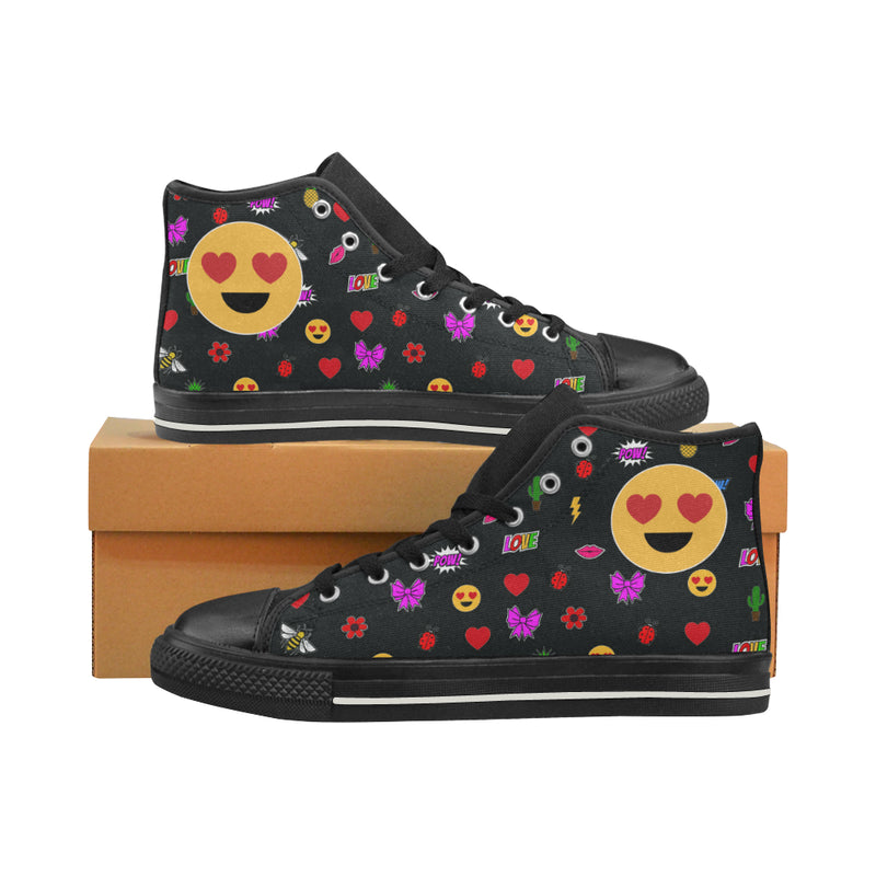 EMOJI PATCHES  HIGH TOP CANVAS GIRLS' SNEAKERS