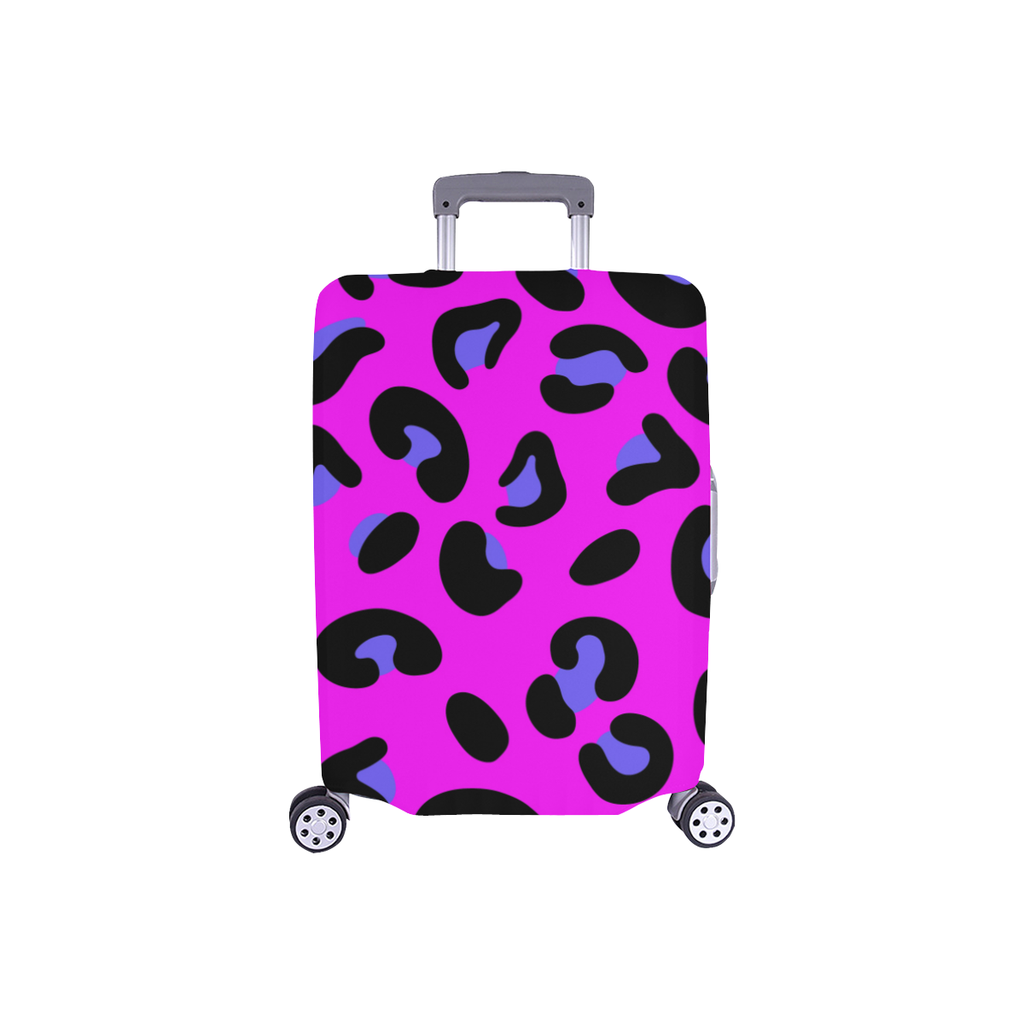 FASHION GIRL GRAFFITI PINK LUGGAGE COVER - SMALL