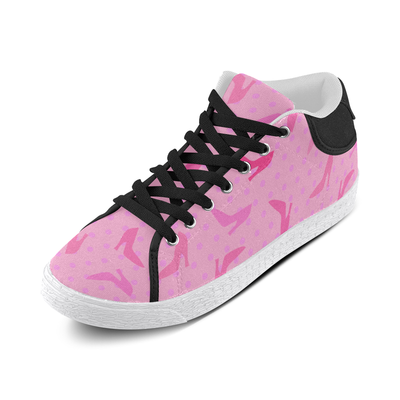 ON WEDNESDAYS WE WEAR PINK MID TOP CANVAS GIRLS' SNEAKERS (sz 5-11)