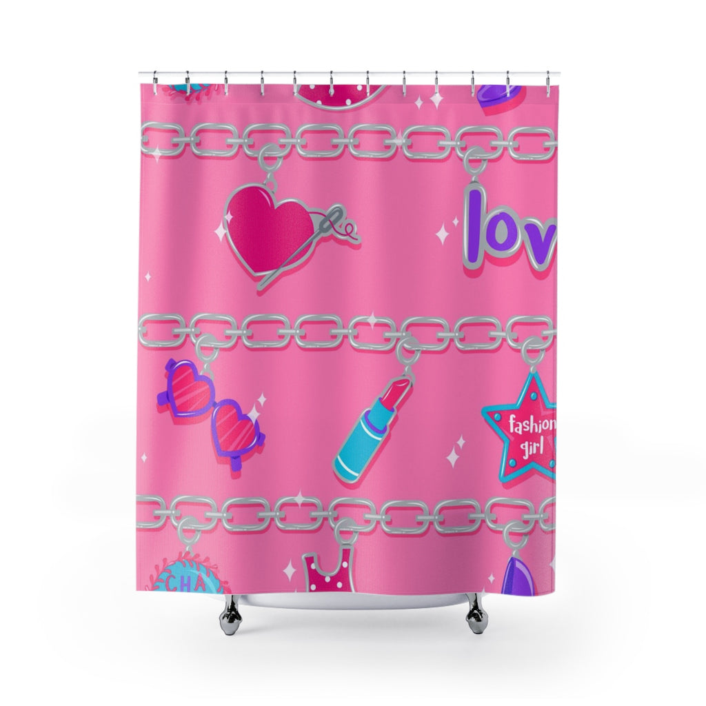 "CHARMED SHOWER CURTAIN 71""x74"""
