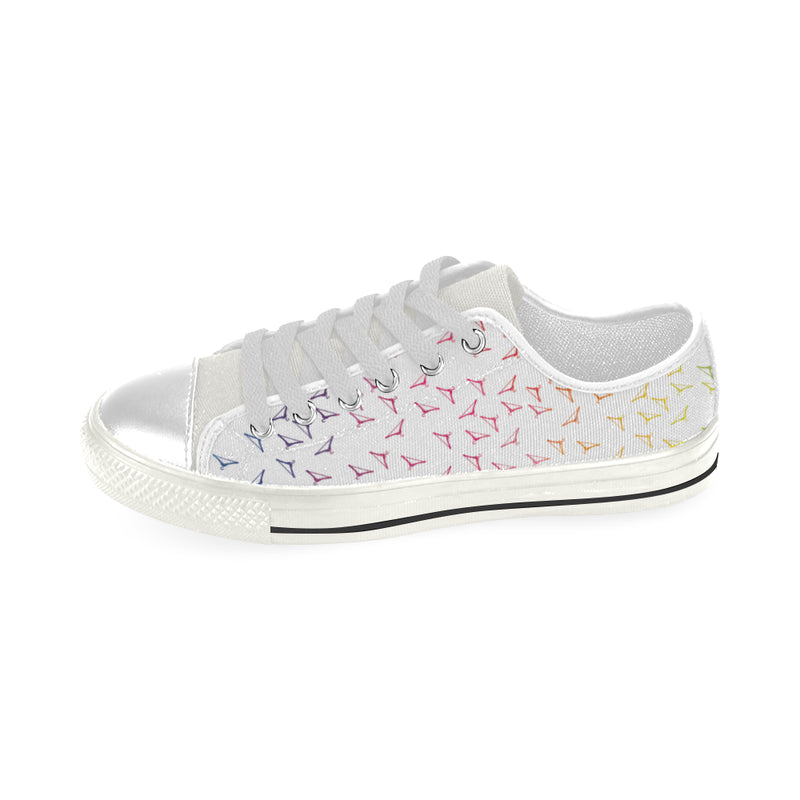 RAINBOW HANGERS LOW TOP CANVAS GIRLS' SNEAKERS