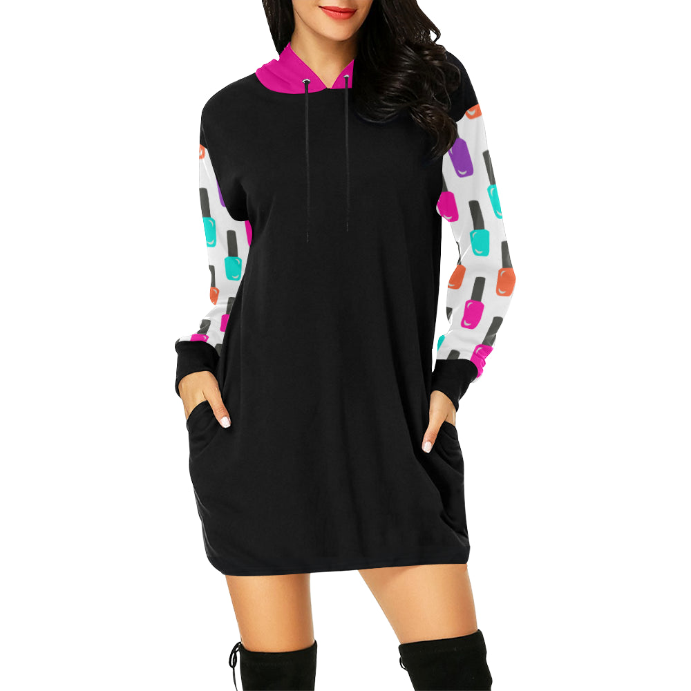 SO POLISHED HOODIE DRESS