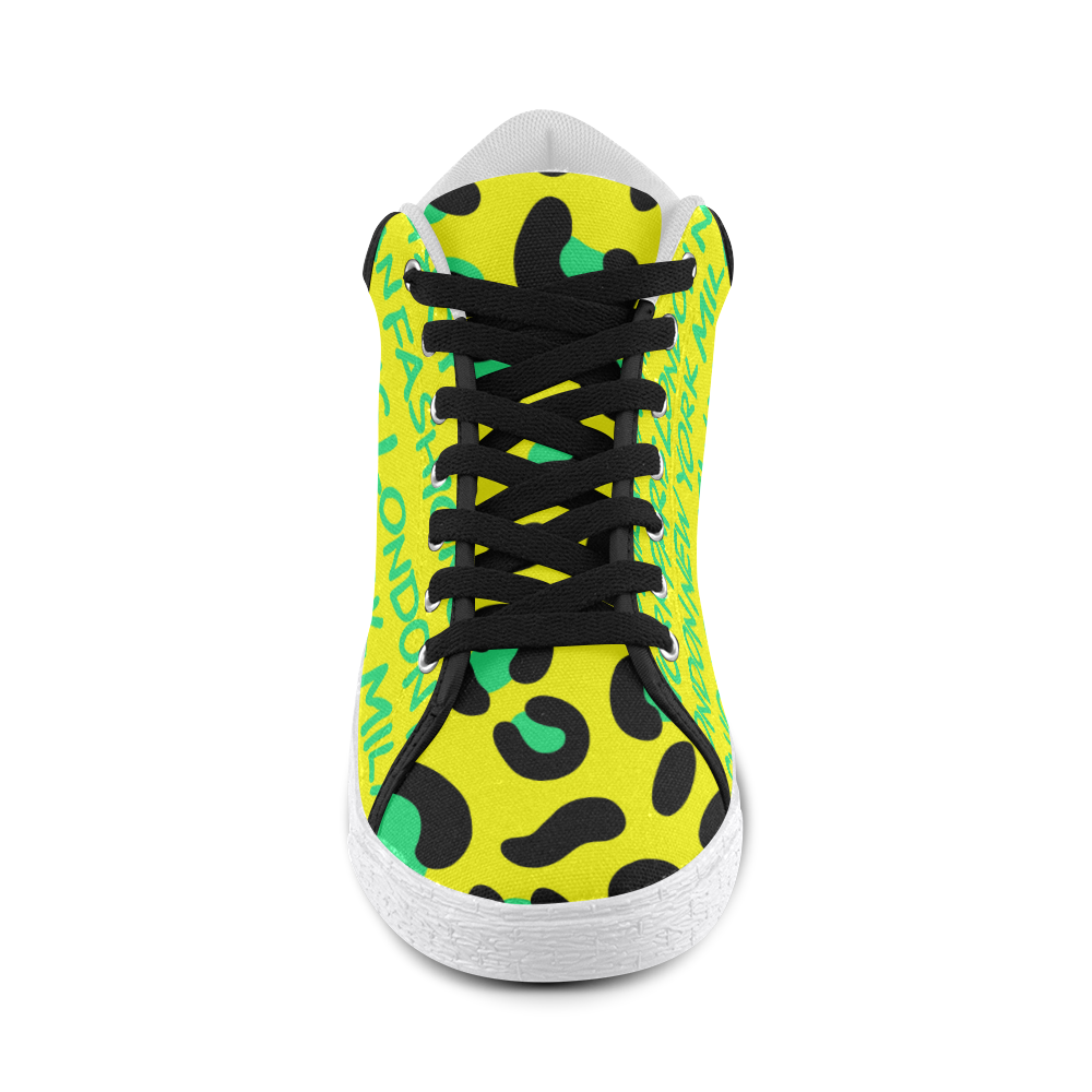 FASHION GIRL GRAFFITI MID TOP CANVAS GIRLS' SNEAKERS (sz 5-11)