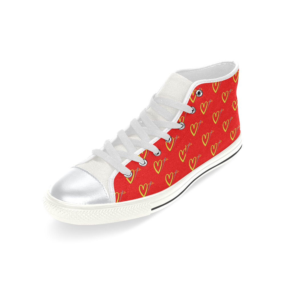 FAST FASHION HIGH TOP CANVAS GIRLS' SNEAKERS