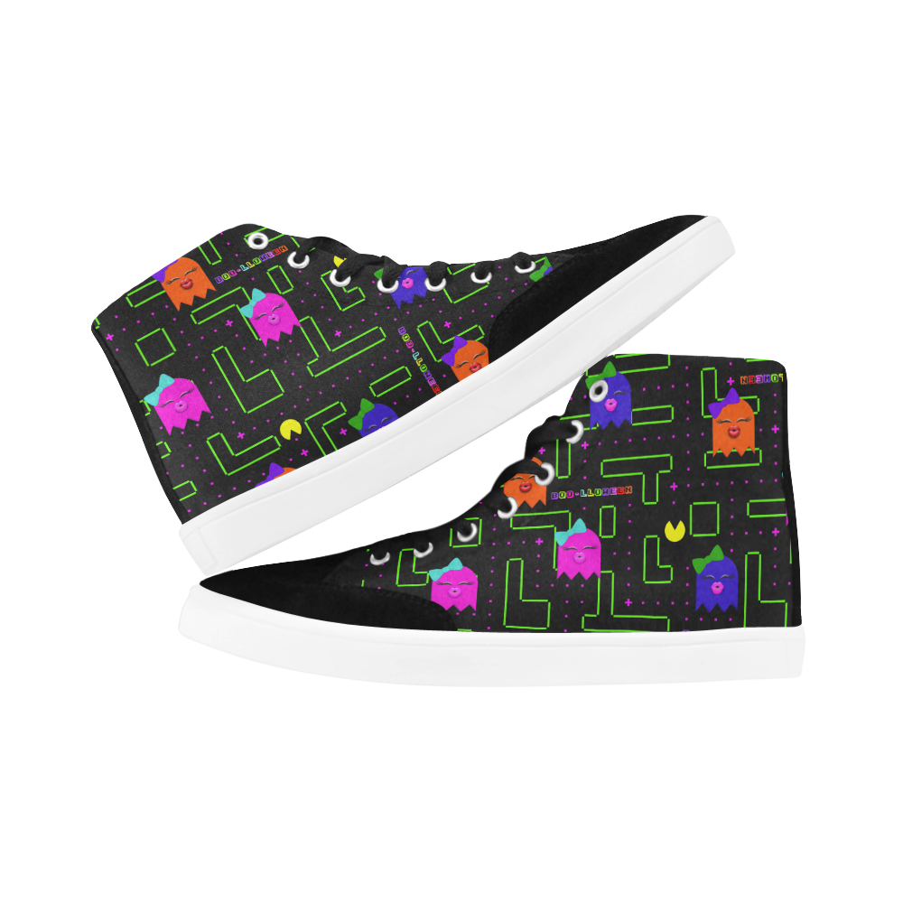 BOO-LLOWEEN HIGH ANKLE CANVAS GIRLS' SNEAKERS (sz 5-12)