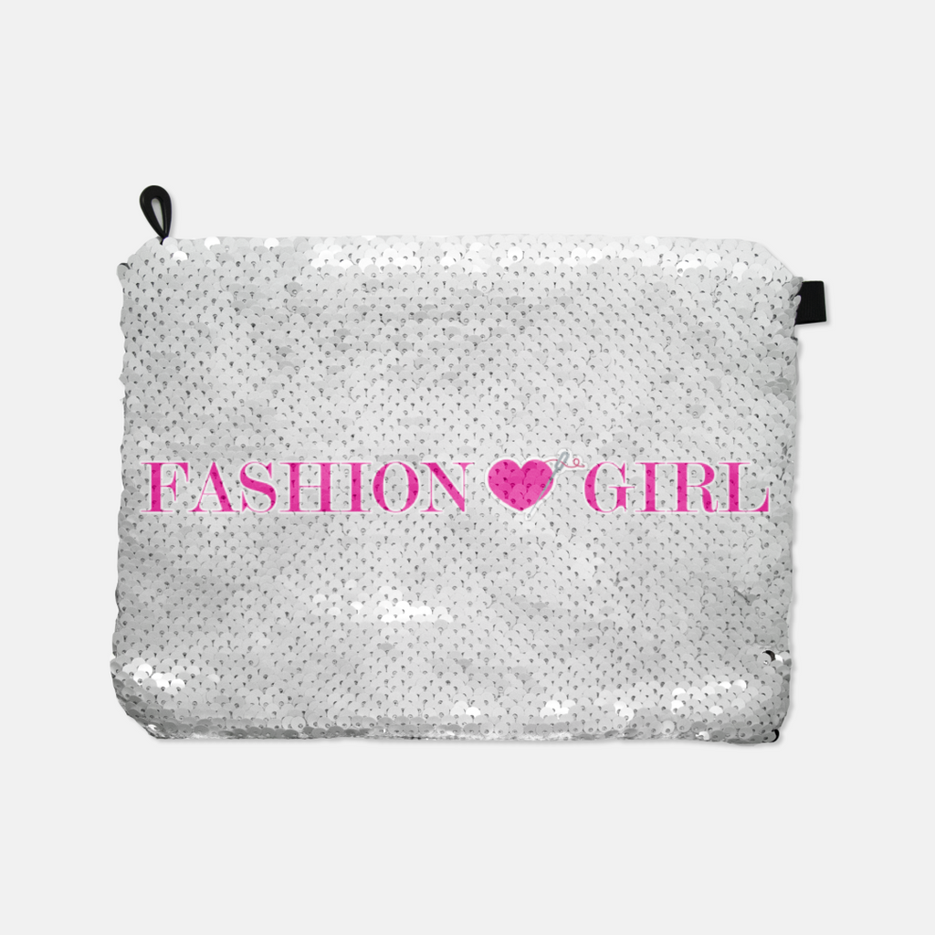 Fashion Girl sequin reversible makeup bag