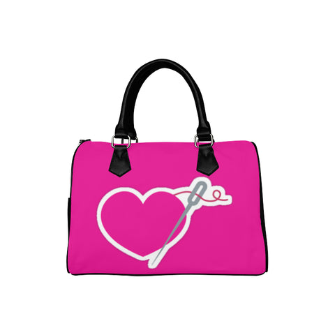 HEART AND NEEDLE SPEEDY HANDBAG - PINK