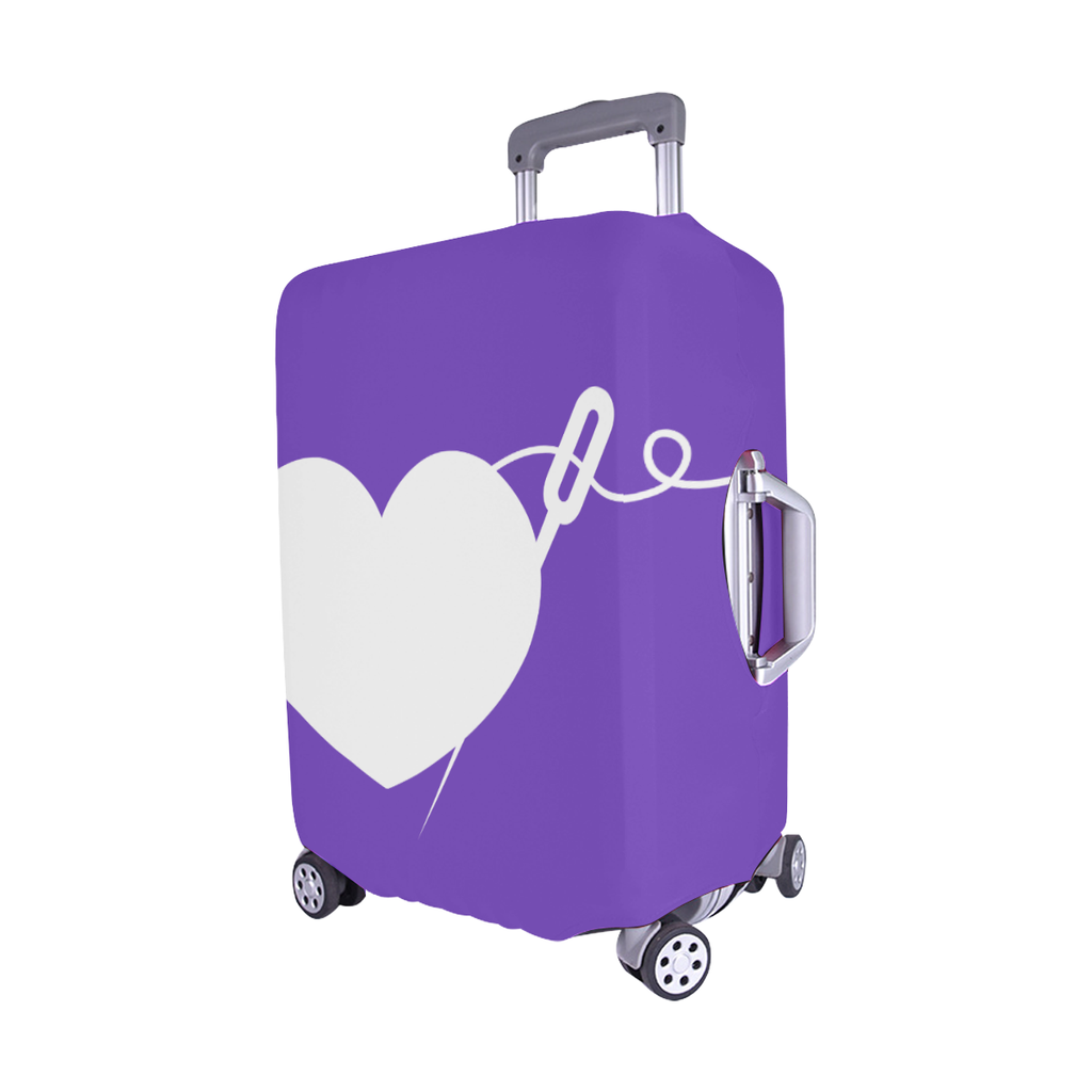 PURPLE HEART AND NEEDLE LUGGAGE COVER - MEDIUM