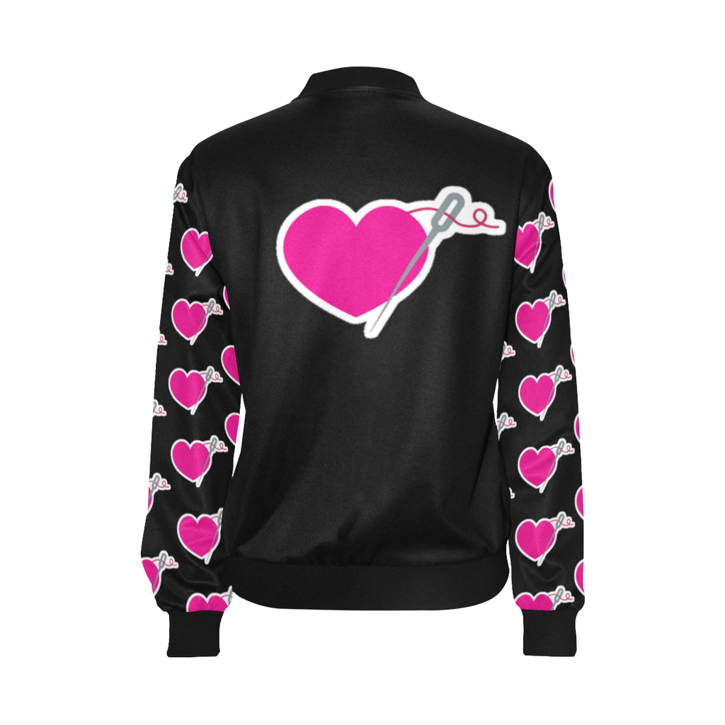 HEART AND NEEDLE LIGHTWEIGHT BOMBER JACKET