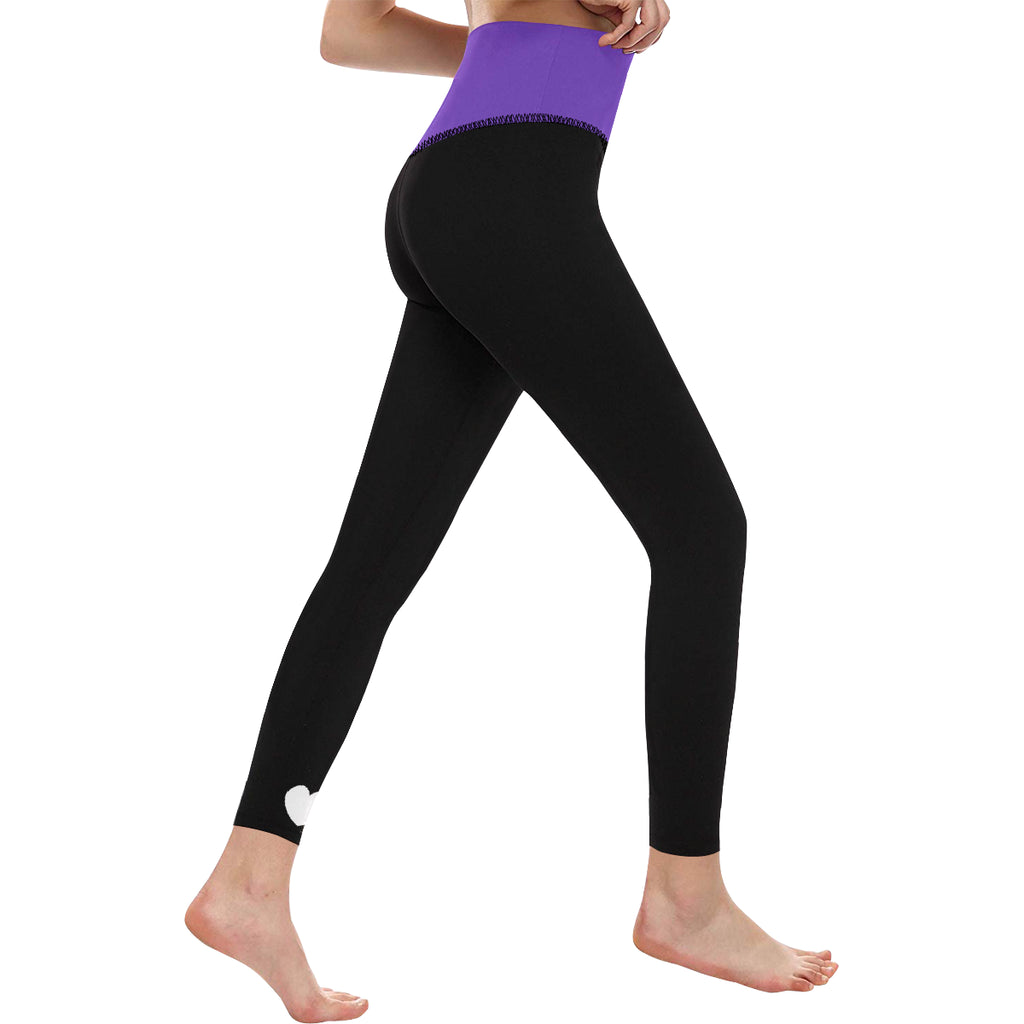 HIGH WAIST YOGA LEGGINGS - PURPLE