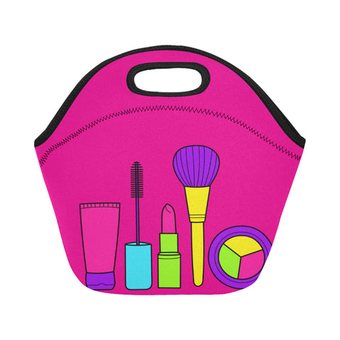 LET'S MAKEUP SMALL NEOPRENE LUNCH TOTE