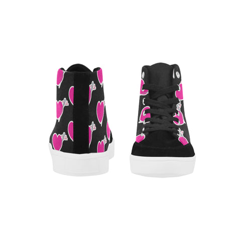 HEART AND NEEDLE WOMEN'S HIGH ANKLE CANVAS SNEAKERS