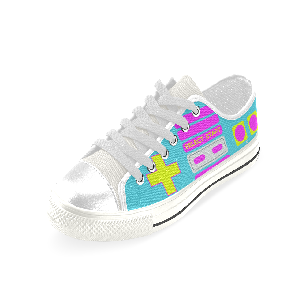 SHOE GAME LOW TOP CANVAS GIRLS' SNEAKERS