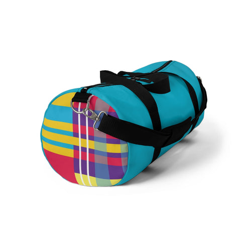 MERRY PLAID Duffel Bag (teal)