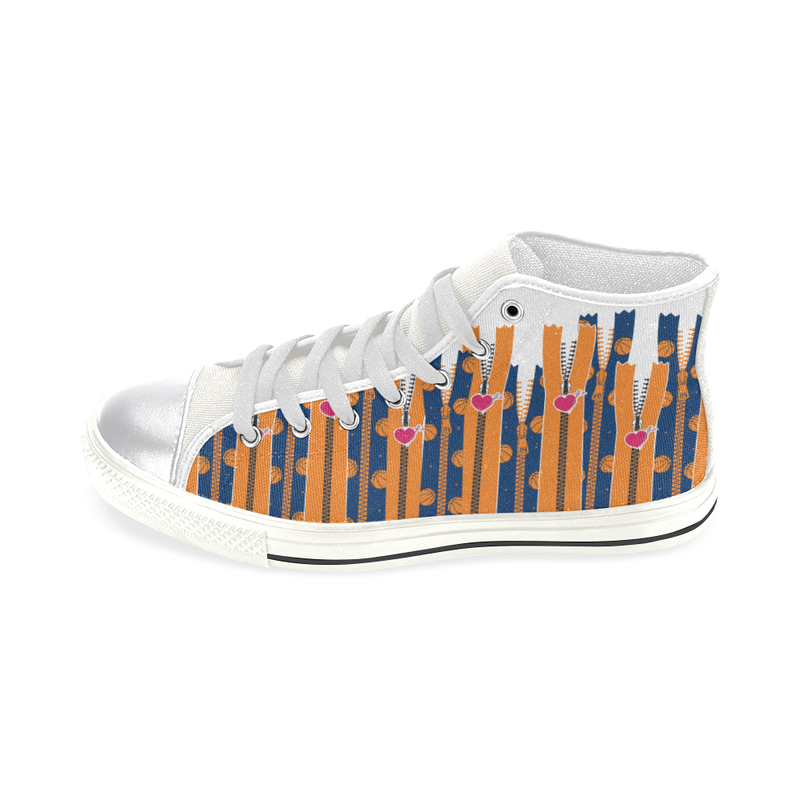 SPORTY ZIPPERS HIGH-TOP GIRLS' SNEAKERS (sz 6-12)