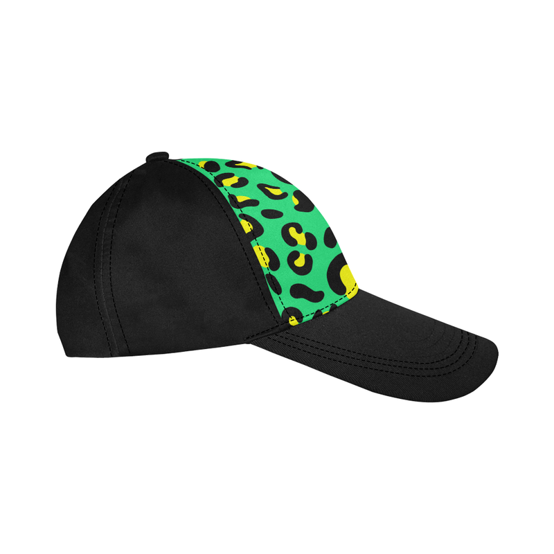 YELLOW AND GREEN LEOPARD MIXIE DAD CAP