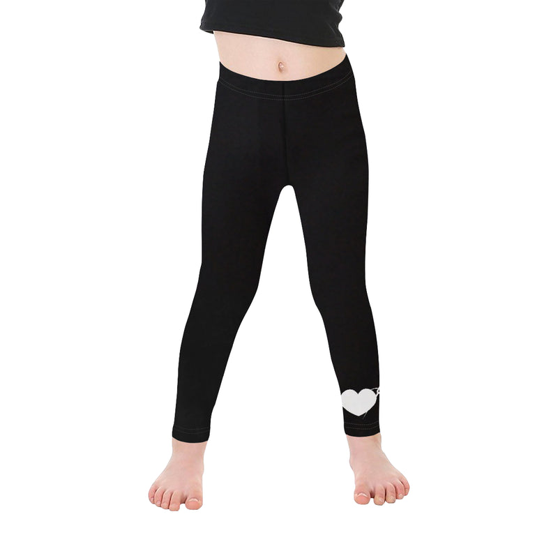 HEART AND NEEDLE KIDS LEGGINGS- BLACK