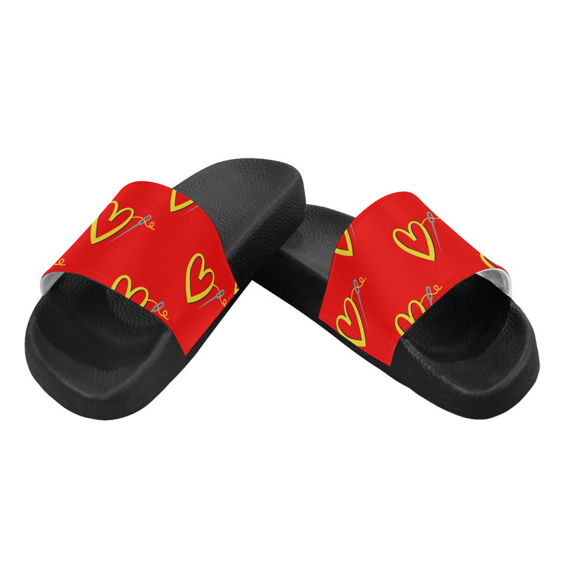 FAST FASHION PATTERN SLIDE SANDALS